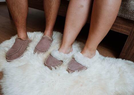 Keep calm and warm your feet