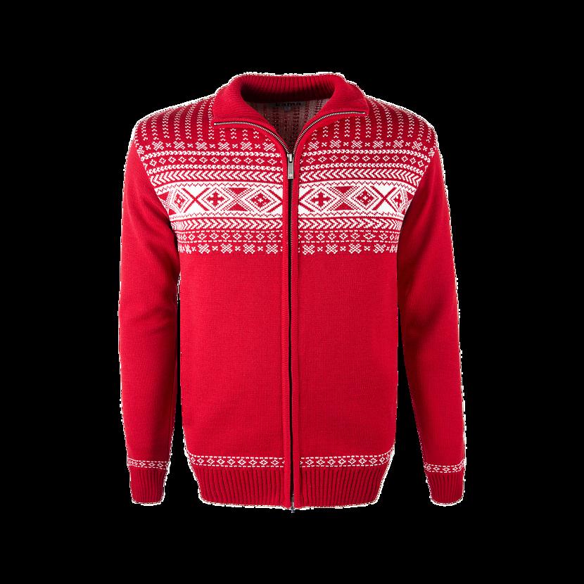 Unisex sveter merino KAMA 4047  červená