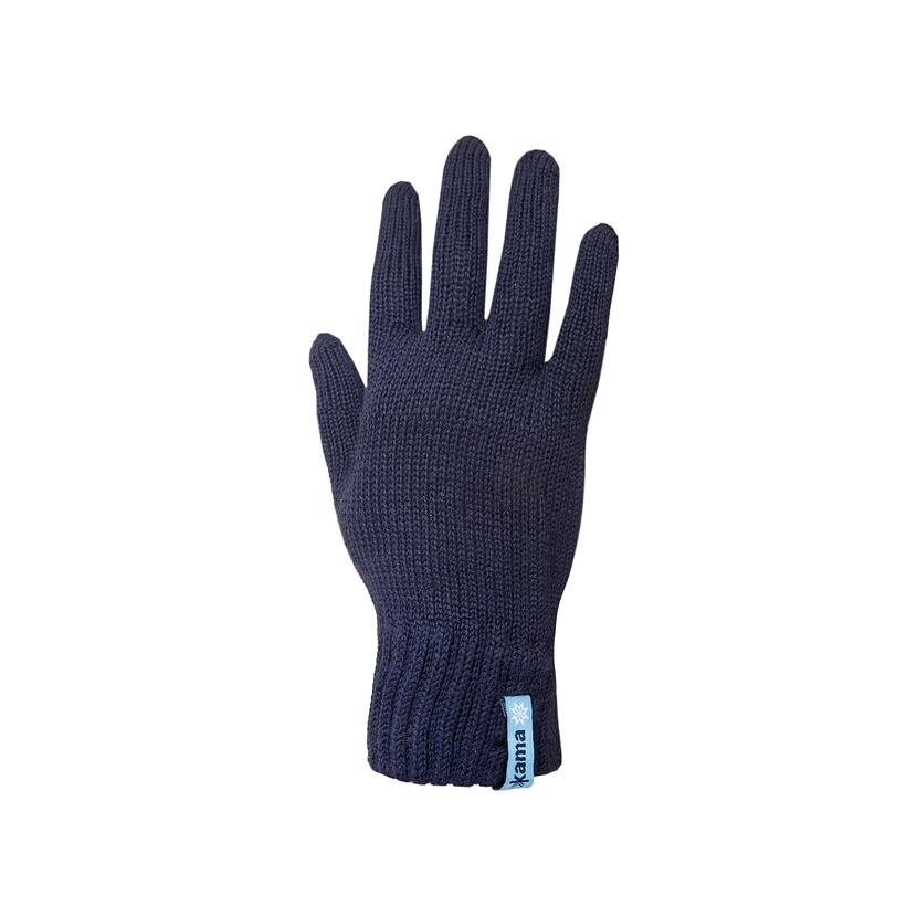 Knitted Merino gloves Kama R101 - Dark Blue / Navy
