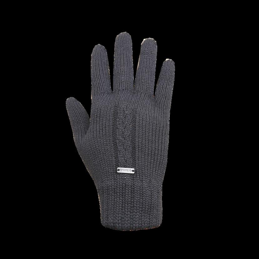 Pletené rukavice Merino Kama R103 tmavosivá