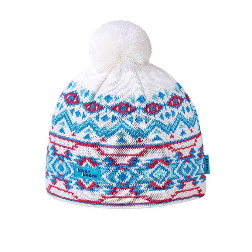 Căciulă tricotată merino KAMA K60  Alb