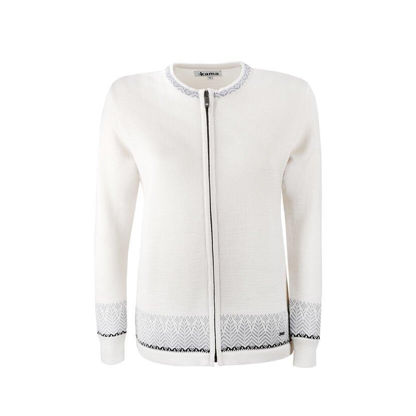 Dámský pletený svetr Merino Kama 5023 přírodní bílá