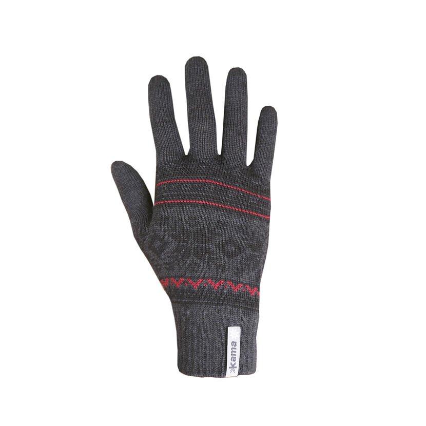 Mănuși tricotate Merino Kama R108 - Gri închis