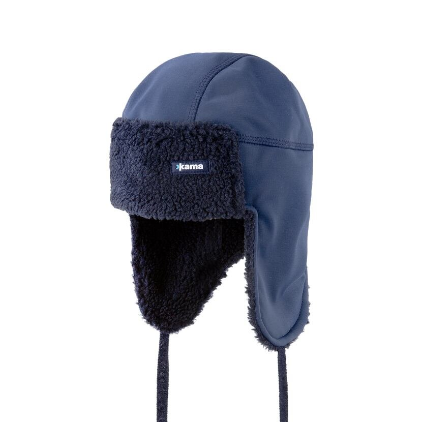 Softshell cap with earflaps KAMA AW65 - Dark Blue / Navy