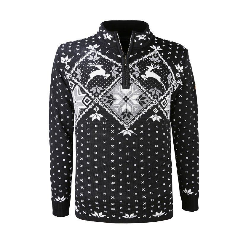 Merino Sweater KAMA 3055 -  Black