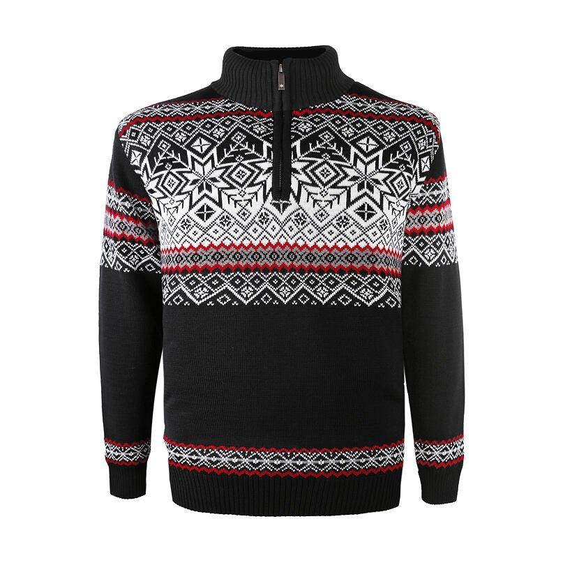 Pulover tricotat Merino Kama 3371 - Negru