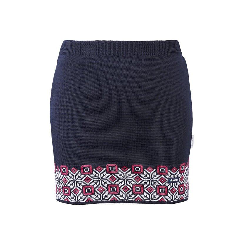Merino Skirt KAMA 6004 - Dark Blue / Navy