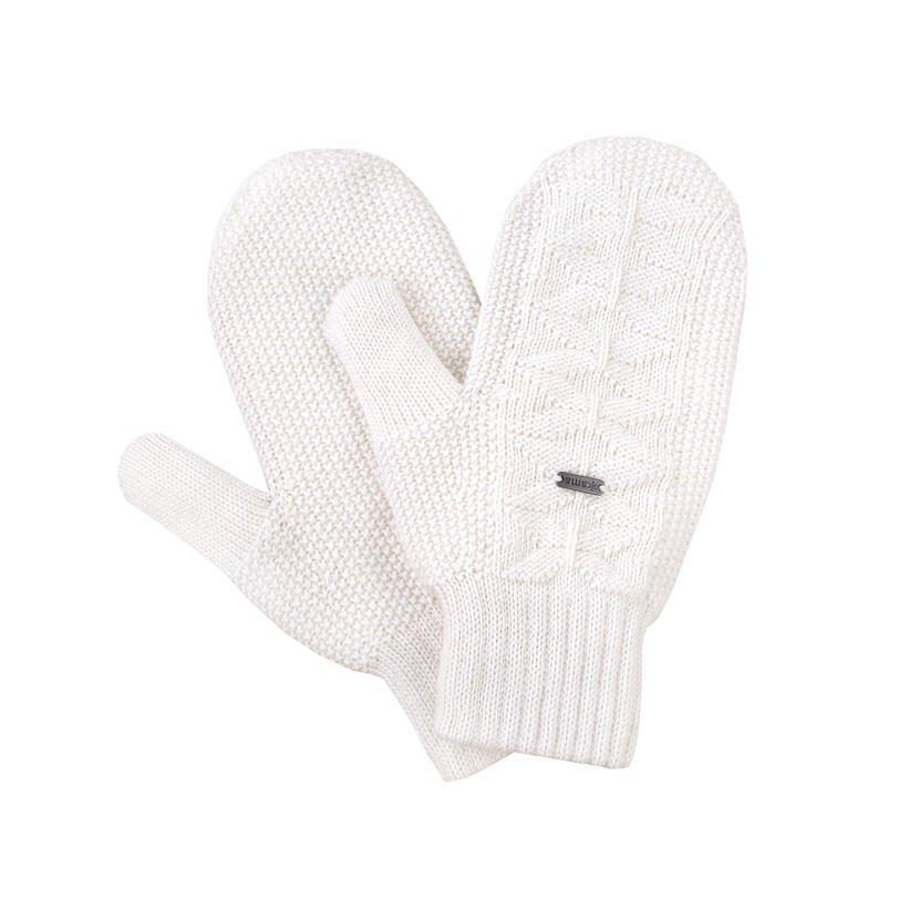 Kötött egyujjas Merinó kesztyű Kama R110 - természetes fehér