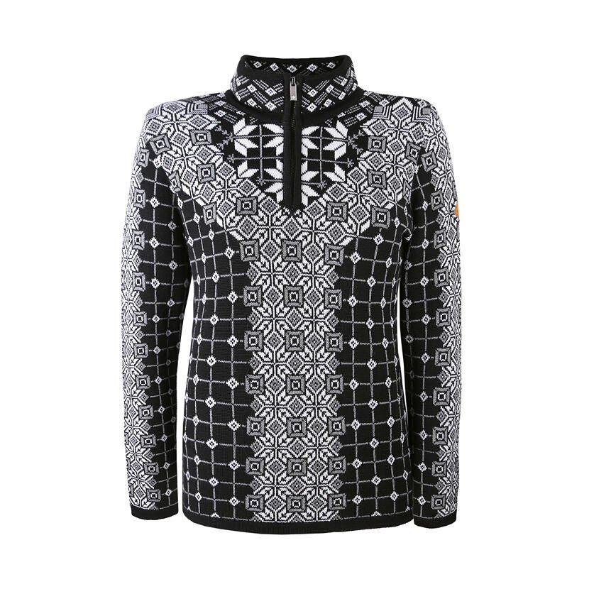 Dámsky pletený sveter Merino Kama 5026 Čierna