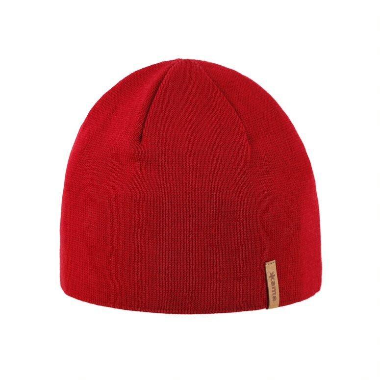 Čepice merino pletená KAMA A02 červená