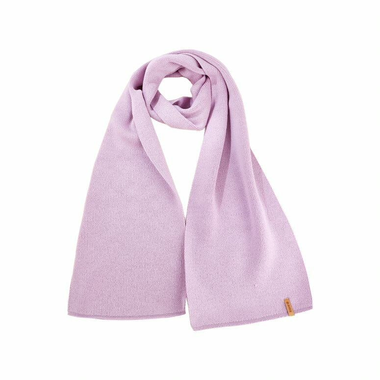 Unisex knitted scarf merino Kama S07 -  Pink