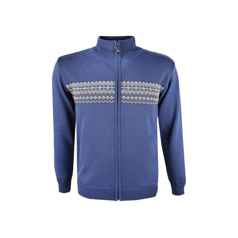 Pánský pletený svetr Merino Kama 4108 světle modrá