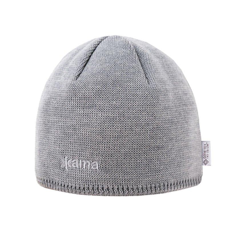Pletená čepice Merino Kama AW69 šedá