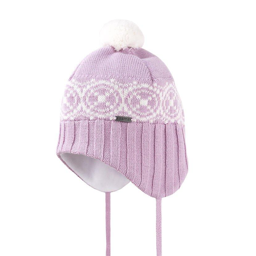 Kid's Merino knit hat Kama B92 - Pink