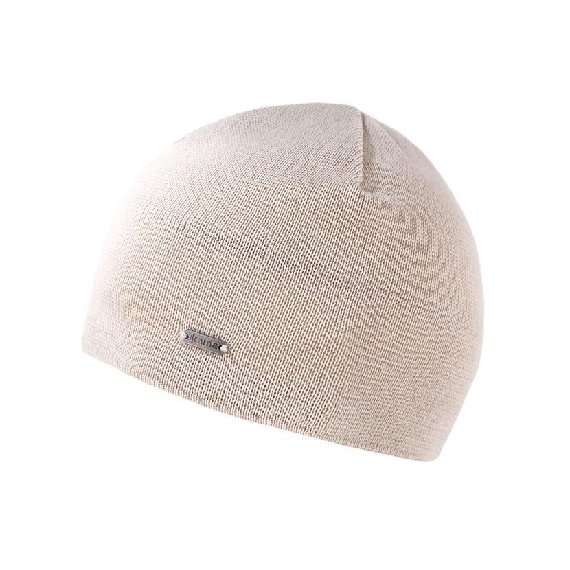 Kid's Merino knit hat Kama B96 - Off white