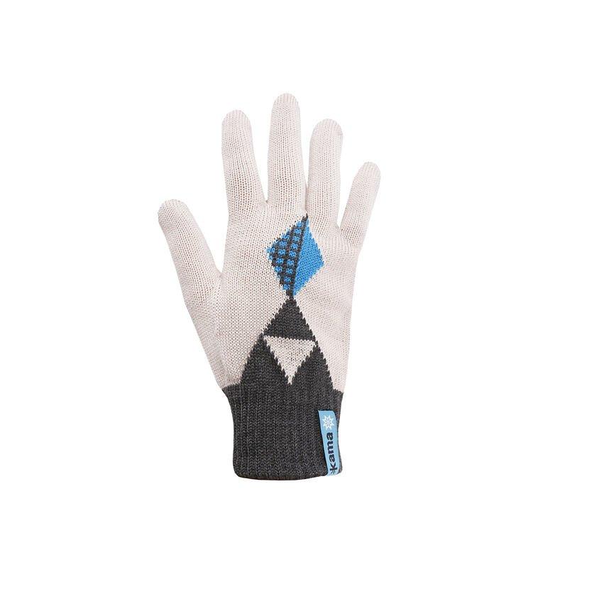 Merino knit gloves Kama RB207 - Dark gray