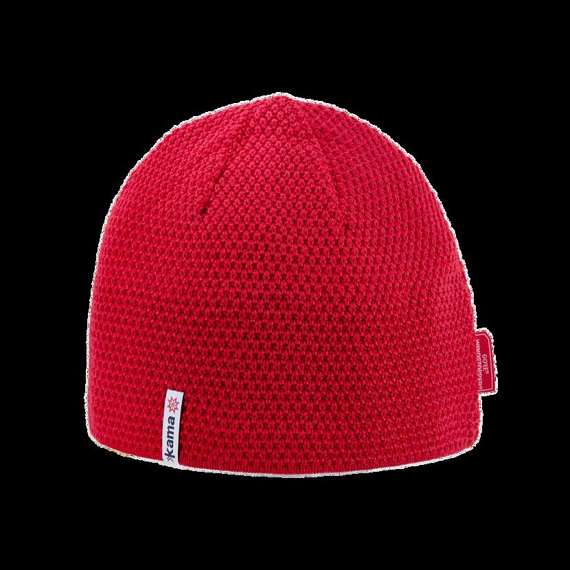 Pletená Merino GORE® WINDSTOPPER® čiapka Kama AW62  červená