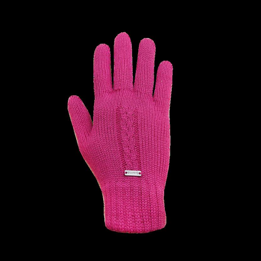 Mănuși tricotate Merino Kama R103 - Roz