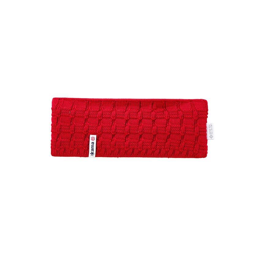 Knitted headband merino KAMA CW12 - Red