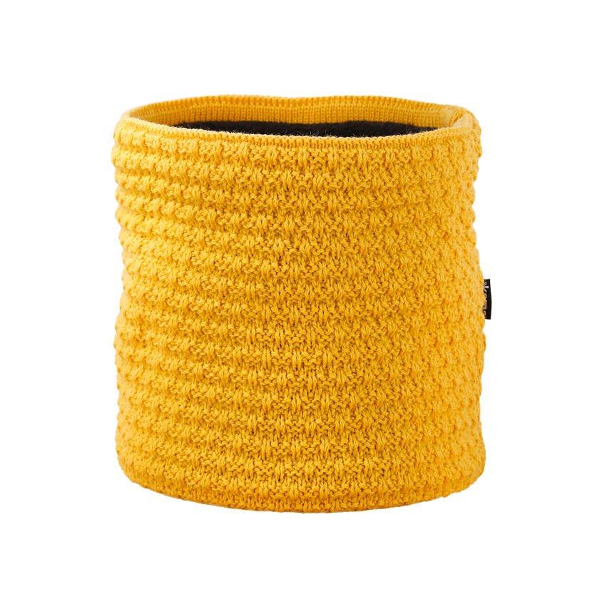 Pletený nákrčník Merino Kama S26 žlutá