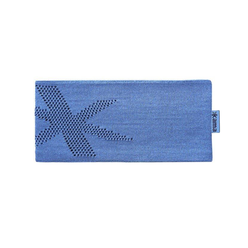 Knitted Merino Headband KAMA C46 - Light Blue