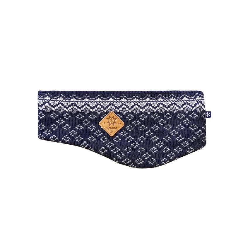 Knitted Merino Headband KAMA C47 - Dark Blue / Navy