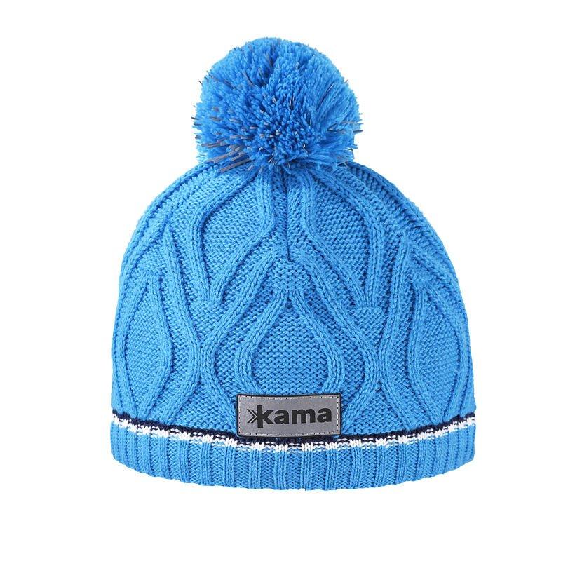 Children's knitted Merino hat KAMA B90 - / Turquoise  Cyan