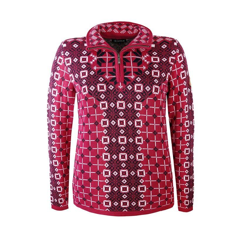 Pulover tricotat pentru femei Merino Kama 5026 - Roz