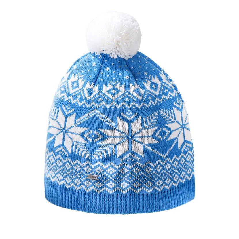 Pletená čiapka Merino Kama A151 Tyrkysová