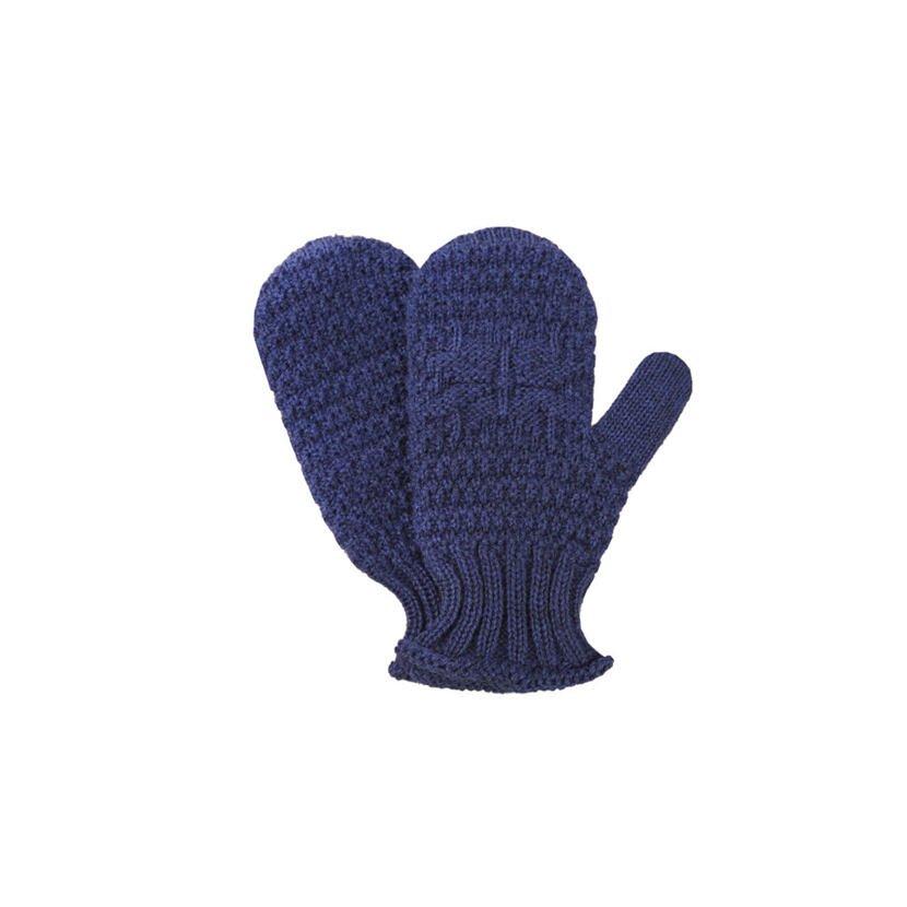 Kid's Knitted Merino Mittens KAMA RB206 - Dark Blue / Navy