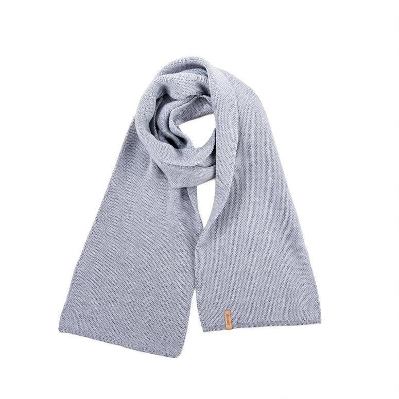 Knitted scarf Merino KAMA S07  Gray