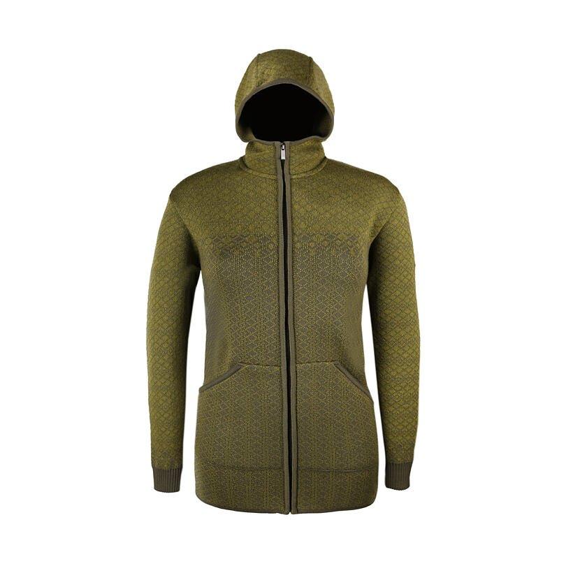 Dámský pletený svetr Merino Kama 5038 zelená