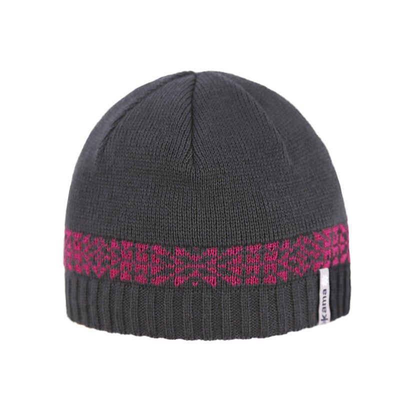 Kid's Merino knit hat Kama B93 - Pink