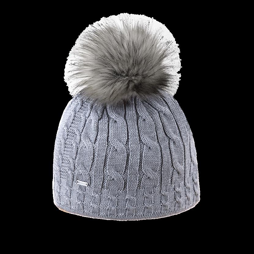 Pletená čiapka Merino Kama A121 sivá