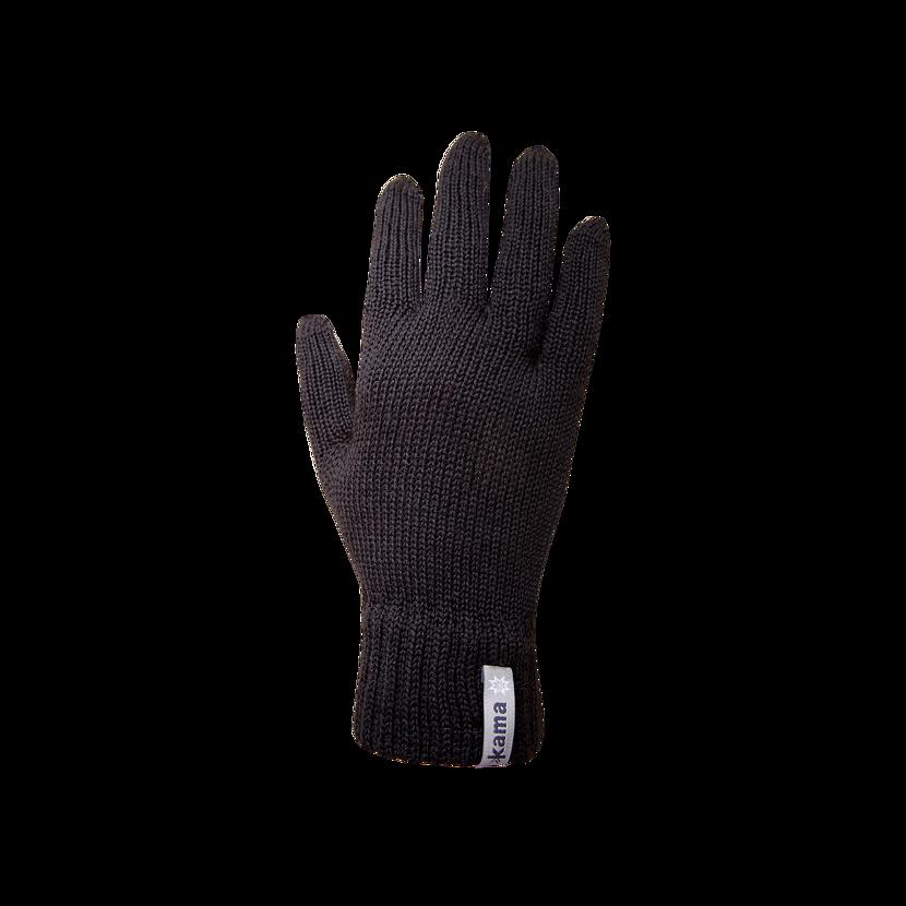 Knitted Merino gloves Kama R101 -  Black