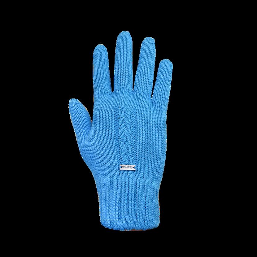 Pletené Merino rukavice Kama R103  tyrkysová