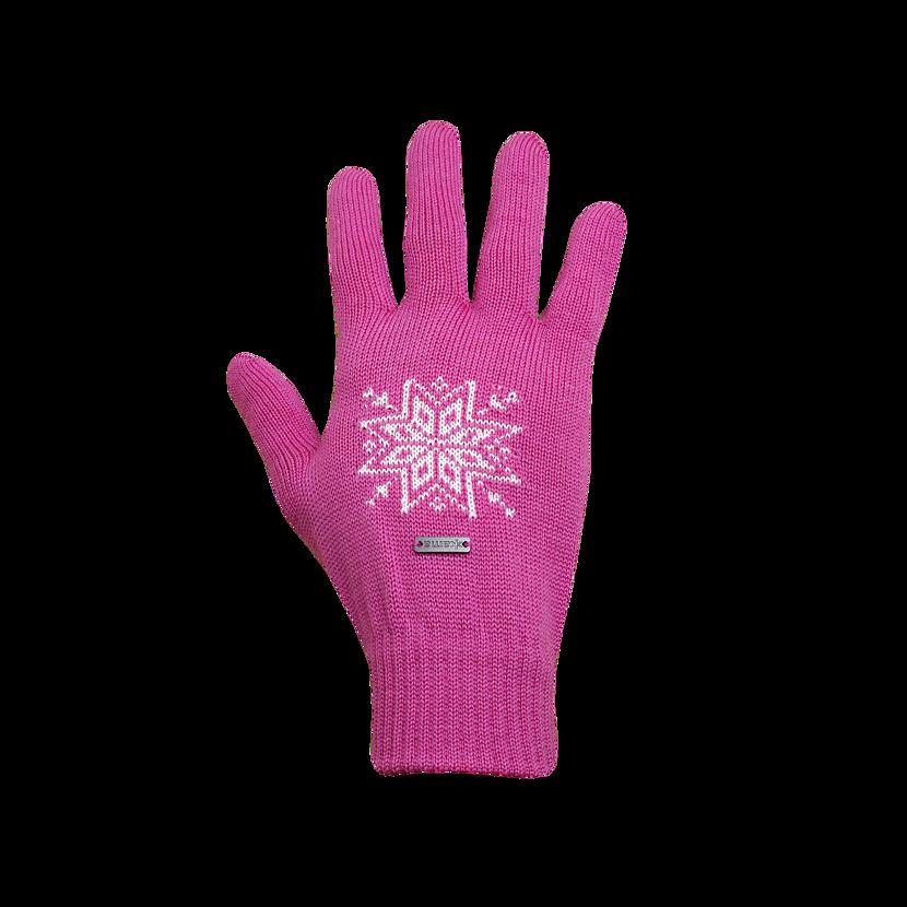 Pletené rukavice Merino Kama R104 ružová