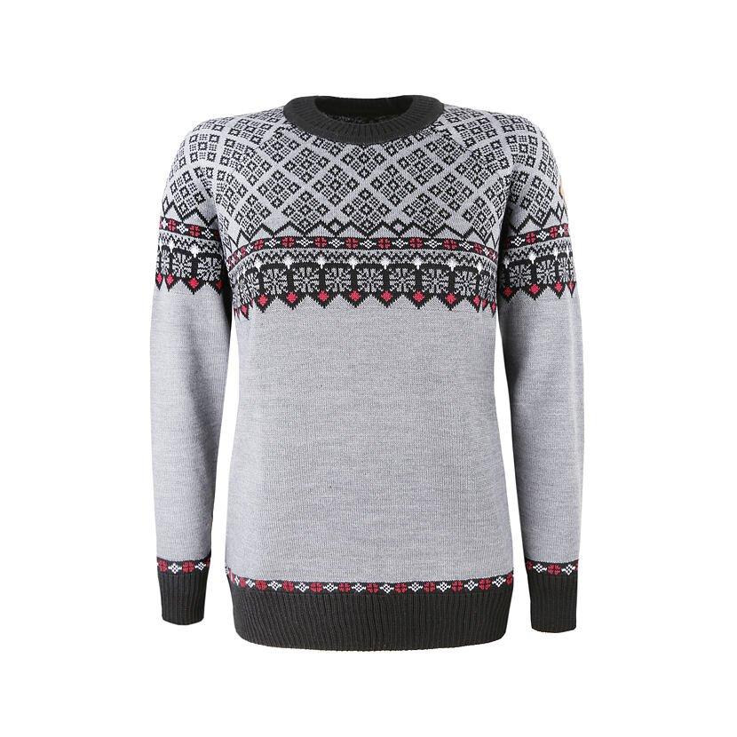 Dámsky pletený sveter Merino Kama 5025 Sivá