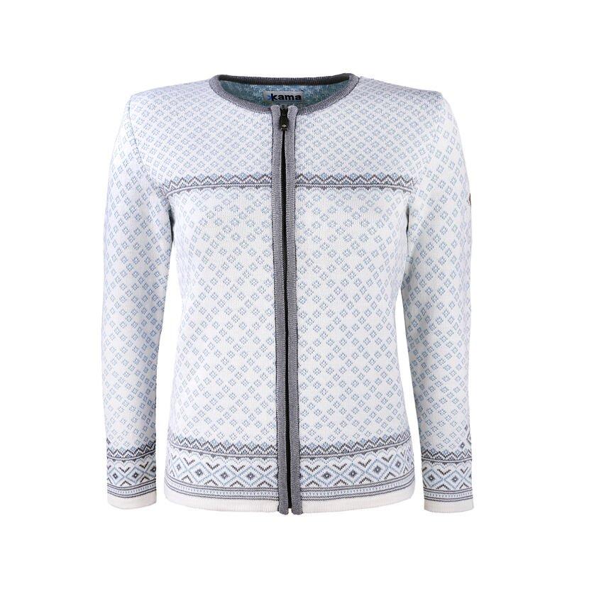 Women's Merino Sweater KAMA 5029 -  Off white