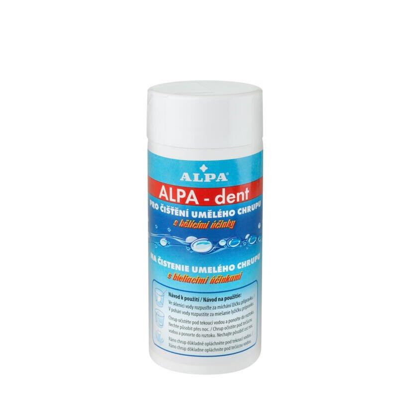 Alpa dent fogfehérítő és fertőtlenítő hatású műfogsor tisztítására szolgáló termék