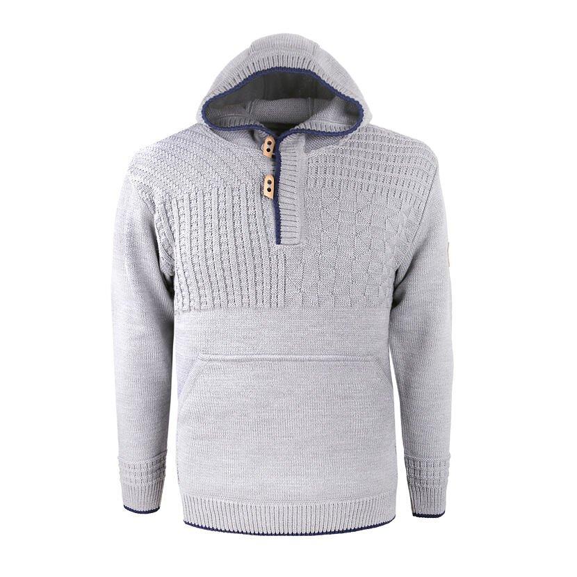 Merino sweater KAMA 4059 - Light Gray