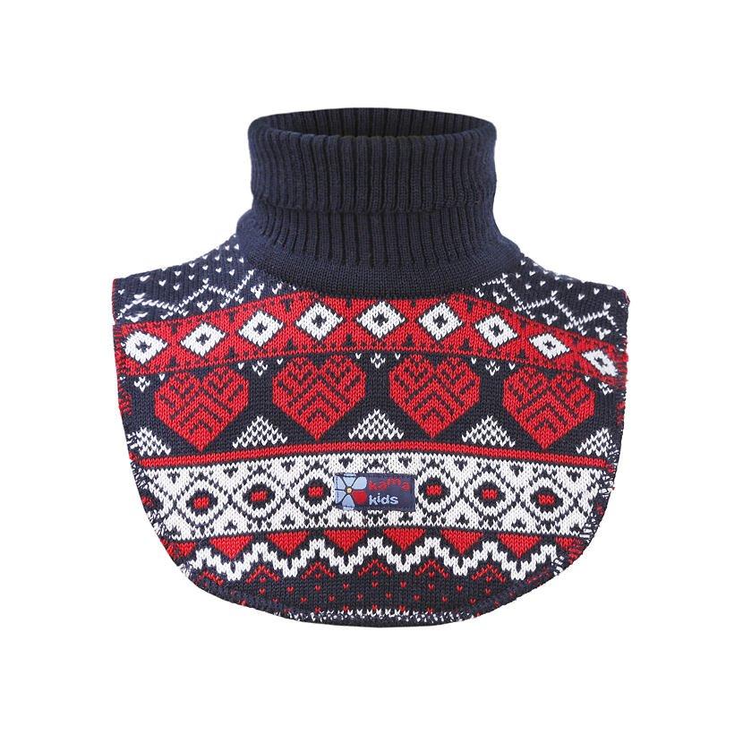 Kid's Knitted Merino Neckwarmer SB14 - Dark Blue / Navy