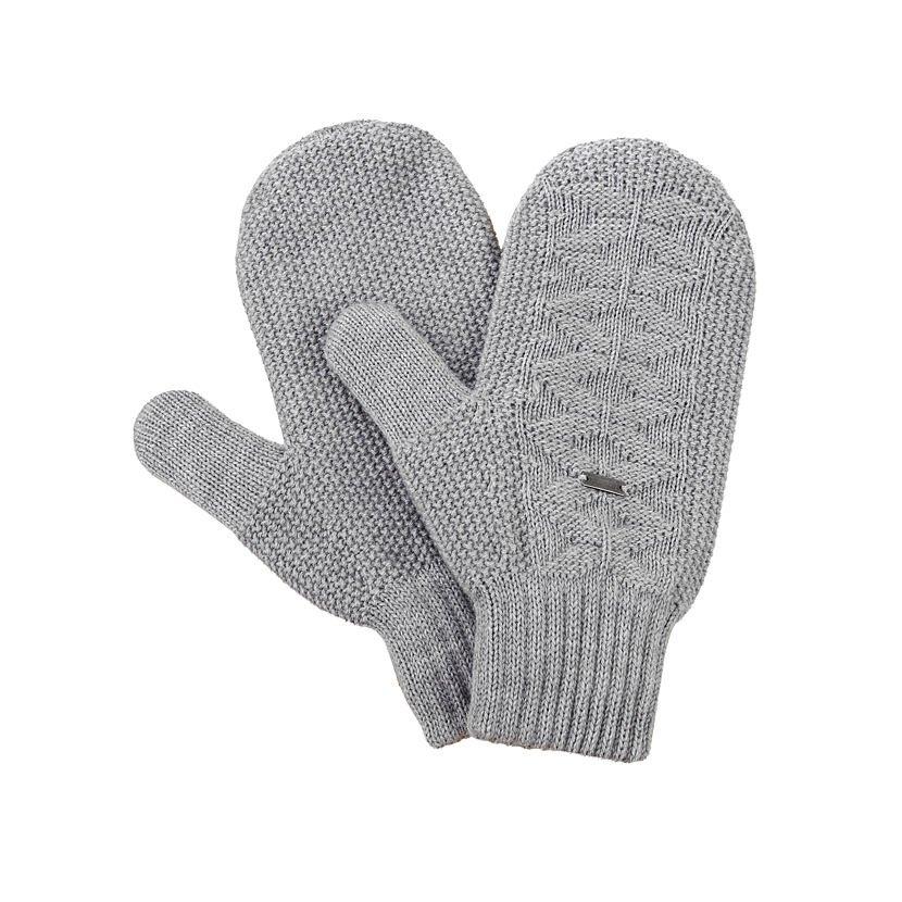 Knitted Merino Mittens KAMA R110 - Light Gray