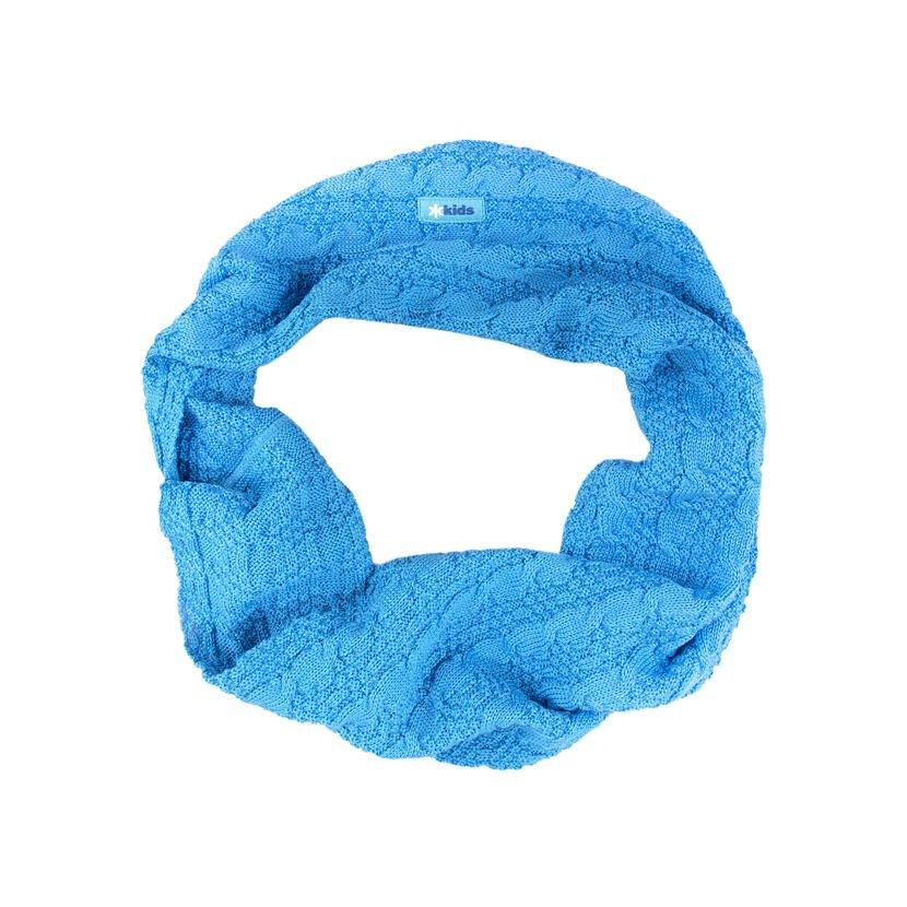 Kid's knitted merino neck warmer SB12 - Cyan