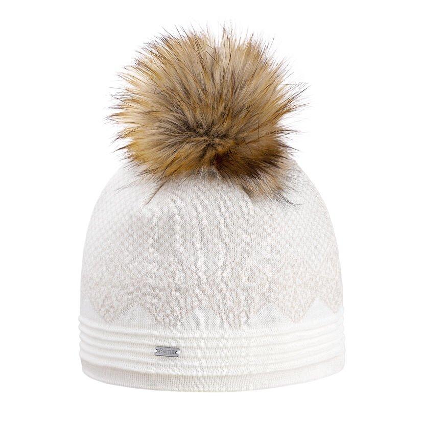 Pletená Merino čiapka Kama A152  prírodnábiela