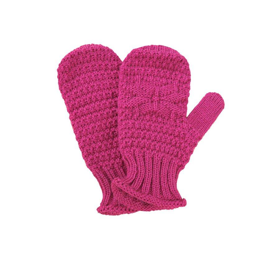 Detské pletené palčiaky Merino Kama RB206 Ružová