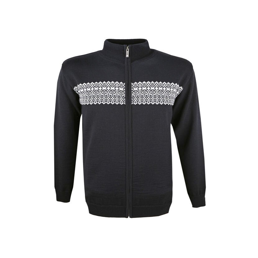 Men's Merino knit sweater Kama 4108 - Black