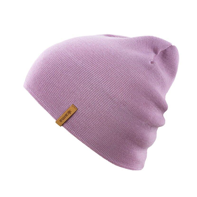 Pletená čiapka Merino Kama A161 ružová