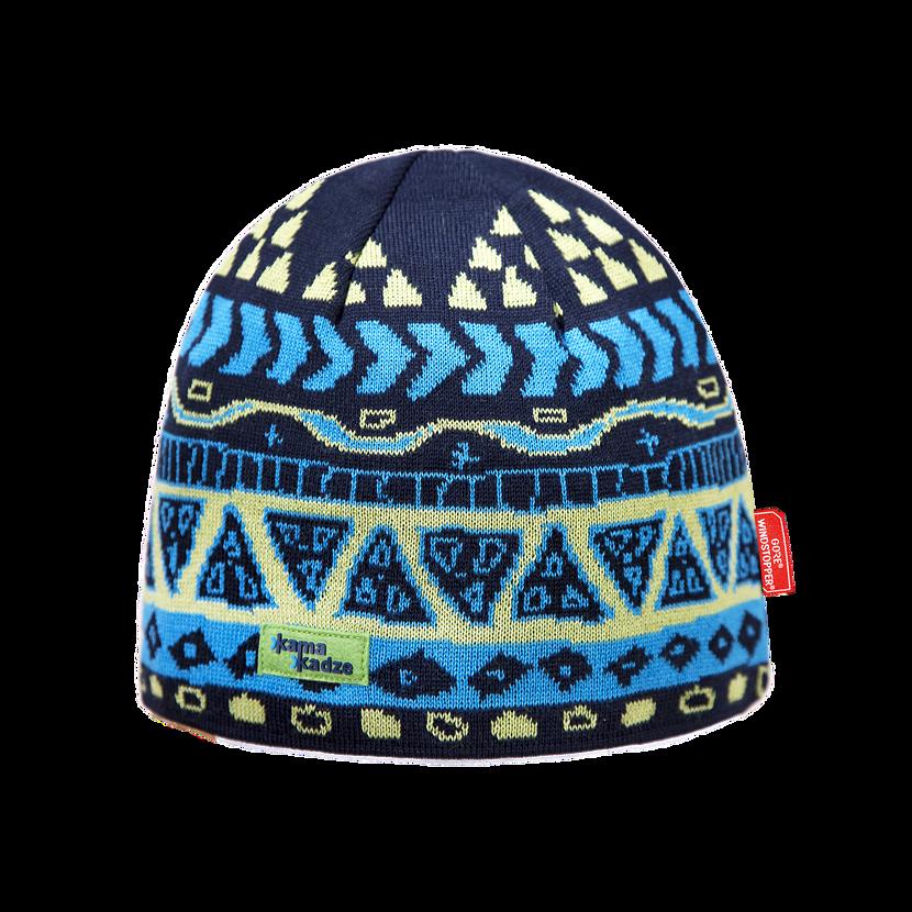 Căciulă tricotată merino KAMA KW03  Albastru închis