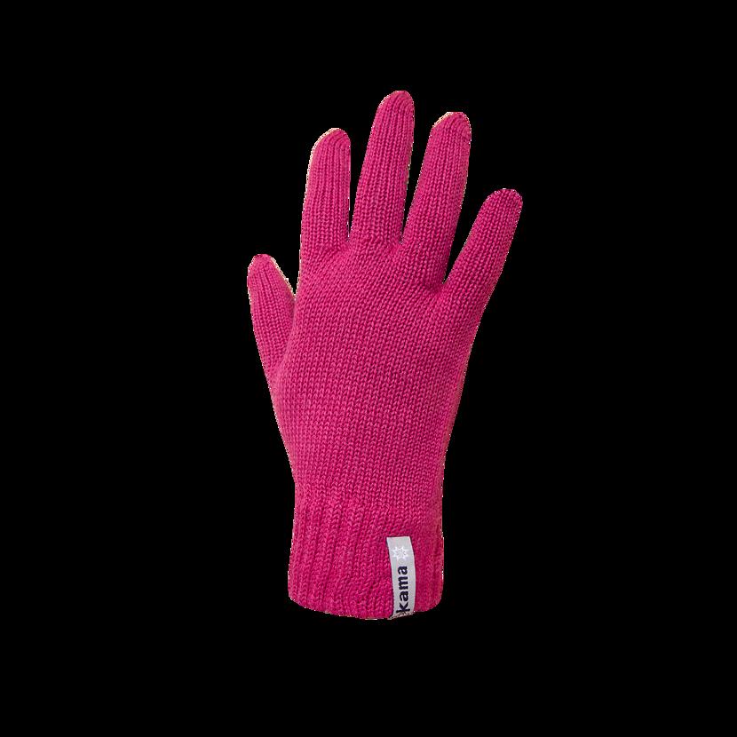 Pletené rukavice Merino Kama R101 ružová
